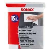 Ściereczki Sonax do czyszczenia i polerowania fizelina 15 sztuk
