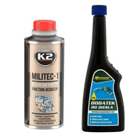 Zestaw: K2 Militec-1 dodatek do oleju 250ml+Xeramic dodatek do ON 250ml