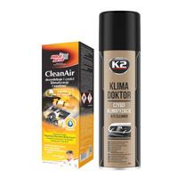 Zestaw Moje Auto CleanAir Świeży 150ml+K2 Klima Doktor 500ml