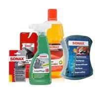 Zestaw Sonax twardy wosk+aplikator+szampon+gąbka+kokpit