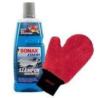 Zestaw : Szampon Sonax Xtreme 2w1 1L + rękawica z mikrofibry Sonax