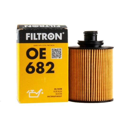 FILTRON filtr oleju OE682 - Fiat Panda, Punto, Doblo 1.3JTD, Opel Agila 1.3 JTD, sys. Ufi