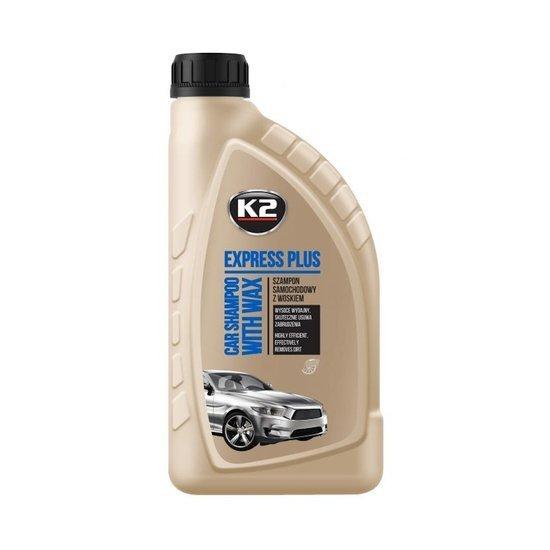K2 Express Plus Szampon samochodowy z woskiem carnauba 1L