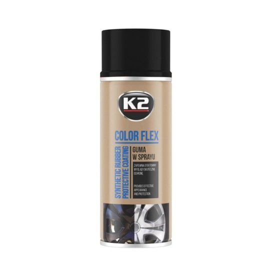 K2 Pro Color Flex guma w sprayu - kolor czarny mat 400ml