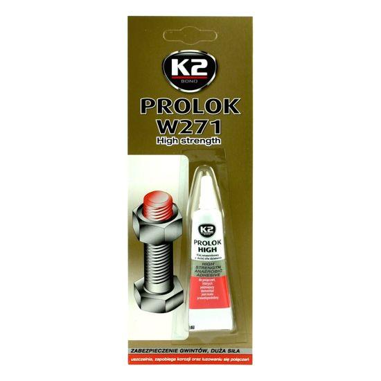 K2 Prolok mocny klej anaerobowy do gwintów - czerwony 6ml