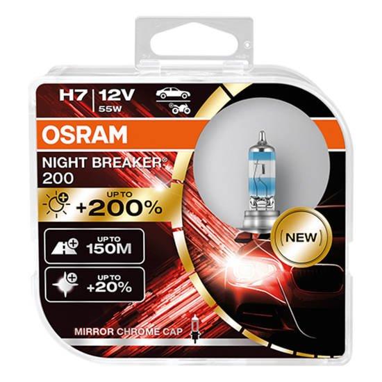 OSRAM Żarówki H7 Night Breaker Laser +200%
