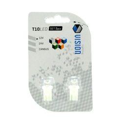 Żarówka LED Vision 12V T10 - 0,18W wklęsła biała 2szt