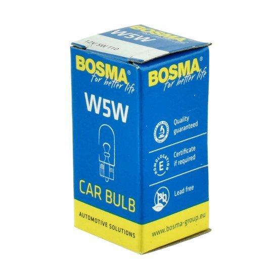 Żarówka samochodowa sygnalizacyjna Bosma 12V W5W - 1szt